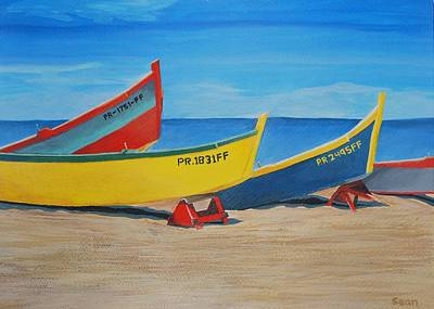Puerto Rico Painting - Pr Beach by Sean Smith
