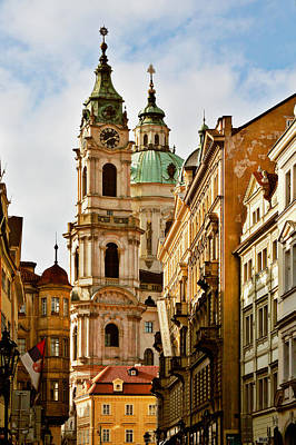 Towns Photograph - Prague - St. Nicholas Church Lesser Town by Christine Till