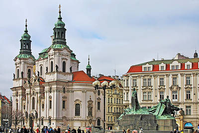 Prague - St Nicholas Church Old Town Square Art Print by Christine Till