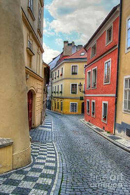 Cityspace Photograph - Prague Alleyway by Michal Boubin