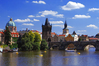 Jeka World Photograph - Prague And Charles Bridge by Jeff Rose