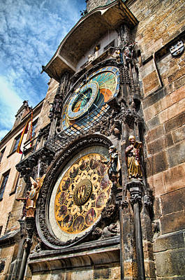Prague Astronomical Clock Art Print by Jon Berghoff