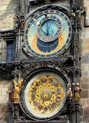 Prague Astronomical Clock Art Print by Roberto Alamino