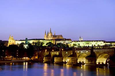 Prague Castle And Charles Bridge Art Print by Artur Bogacki