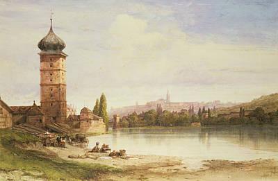 Vltava Painting - Prague Czechoslovakia by William Wyld