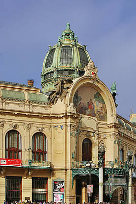 Prague Obecni Dum - Municipal House Art Print by Christine Till