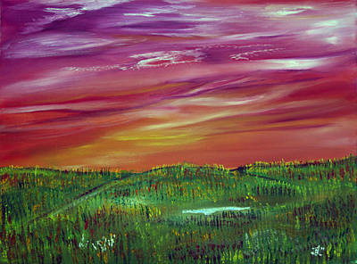 Prairie Painting - Prairie Dreams In The Fall by James Bryron Love