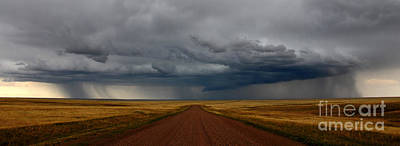 Prairie Storm In Canada Art Print