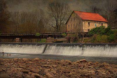 Prallsville Grist Mill And The Spillway Art Print