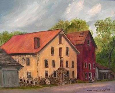 Grist Mill Painting - Prallsville Mills Stockton by Aurelia Nieves-Callwood