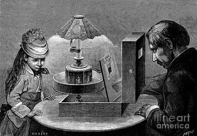 Magic Lantern Photograph - Praxinoscope, 1877 by Granger