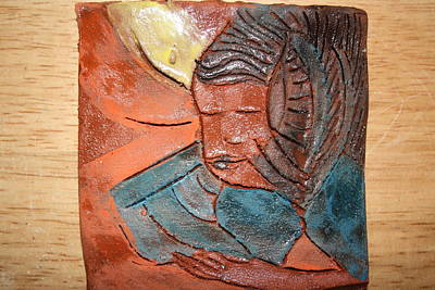 Ceramic Art - Prayer 2 - Tile by Gloria Ssali