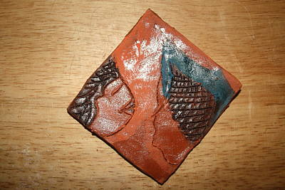Ceramic Art - Prayer 3 - Tile by Gloria Ssali
