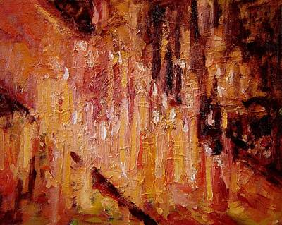 Devotional Painting - Prayer Candles In Zagreb by R W Goetting