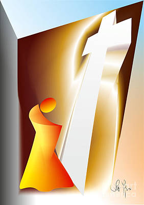 Pieta Digital Art - Prayer by Leo Symon
