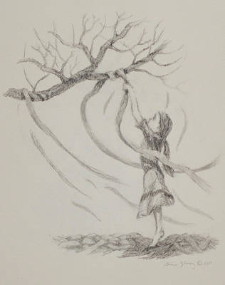 Spiritual Energy Art Drawing - Prayer Ribbons by Bruce Zboray
