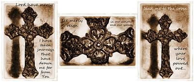 Mercy Mixed Media - Prayer Triptych 2 by Angelina Vick