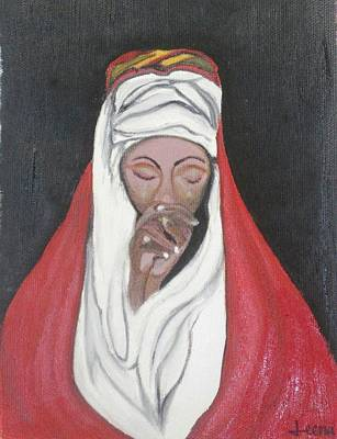 Praying Woman-oil Painting Art Print by Rejeena Niaz