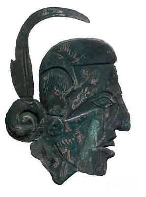 Relief Copper Art Photograph - Pre-columbian Copper Ornament by Photo Researchers