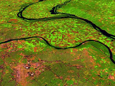 Pre-flood Rivers Art Print by Nasagoddard Space Flight Center