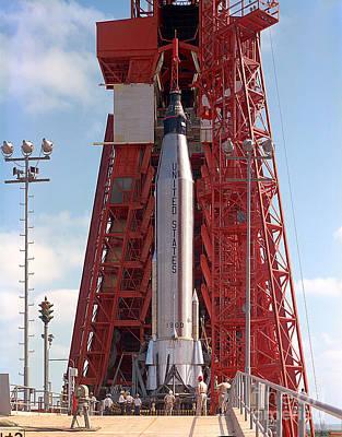 Photograph - Pre-launch Test Of The Mercury-atlas 9 by Stocktrek Images