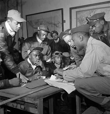 Preflight Briefing Of Several Tuskegee Art Print