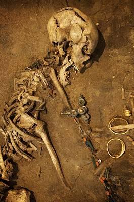Waist Beads Photograph - Prehistoric  Burial On Display by Jim Richardson