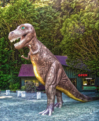 Photograph - Prehistoric Gardens -  T- Rex by Gregory Dyer