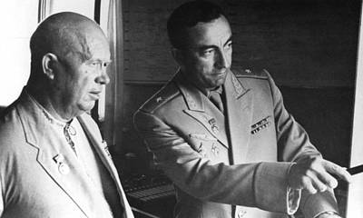 Nikita Photograph - Premier Nikita Khrushchev At Simferpol by Everett