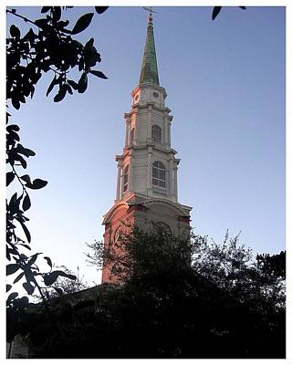 Photograph - Presbyterian Church Steeple by Frank Wickham