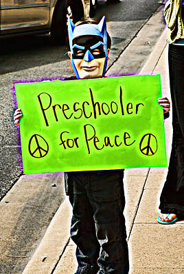 Preschooler For Peace Art Print by David Thompson