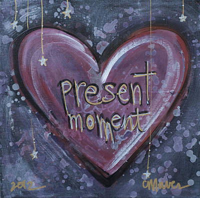 Painting - Present Moment Heart by Laurie Maves ART