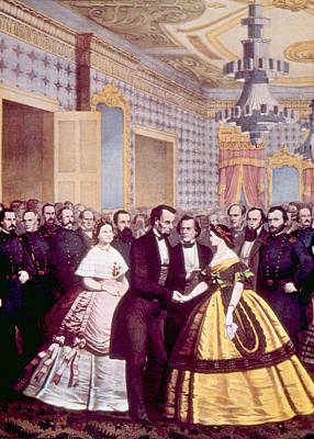 President Abraham Lincoln And First Art Print by Everett