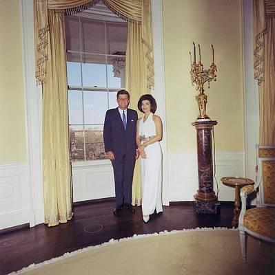 President And Jacqueline Kennedy Art Print by Everett