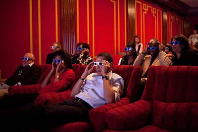 Barack Obama Photograph - President And Michelle Obama Wear 3-d by Everett