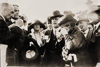 America First Party Photograph - President And Mrs. Harding Entertain by Everett