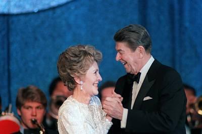 President And Mrs. Reagan Dance Art Print by Everett