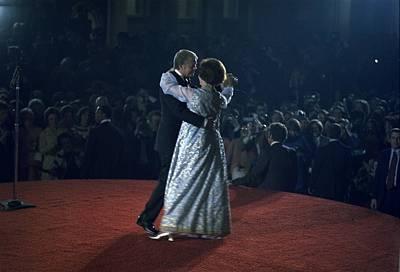 President And Rosalynn Carter Dancing Art Print by Everett