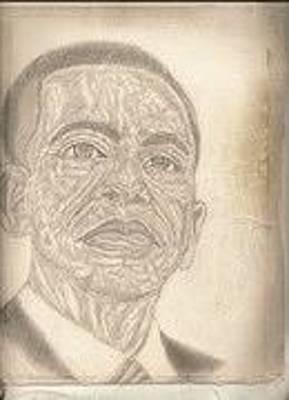 President Barack Obama By Artist Fontella Moneet Farrar Original
