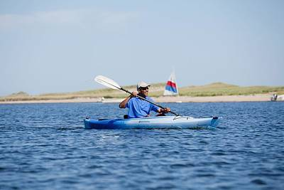 President Barack Obama Kayaks While Print by Everett