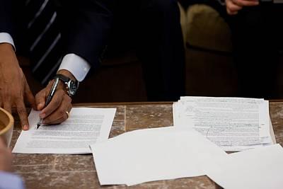 President Barack Obama Works Art Print by Everett