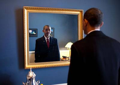 President-elect Barack Obama Checks Art Print
