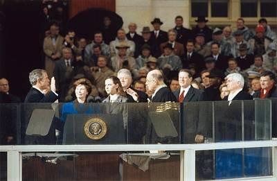 President-elect George W. Bush Is Sworn Art Print