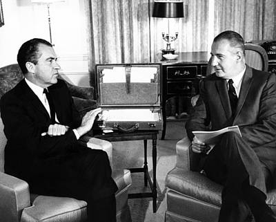 President-elect Nixon Meets With Vice Art Print