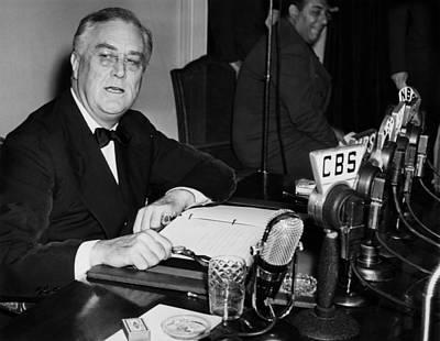 C.b. Radio Photograph - President Franklin D. Roosevelt, Circa by Everett