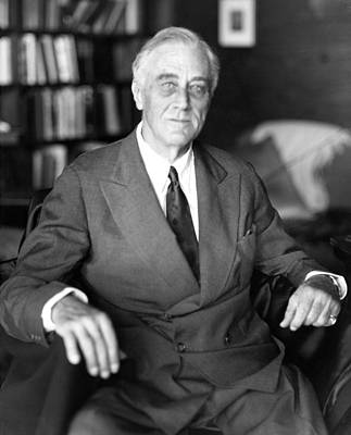 President Franklin Roosevelt The Day Art Print