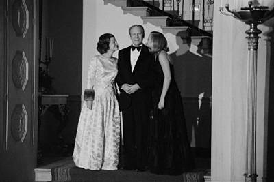 President Gerald Ford Betty Ford Print by Everett