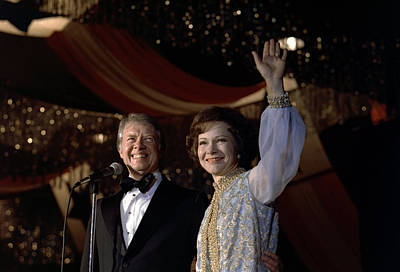 President Jimmy Carter And First Lady Print by Everett