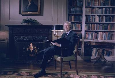 President Jimmy Carter At The White Art Print by Everett