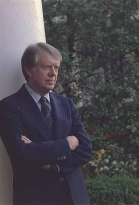 President Jimmy Carter In The White Art Print by Everett